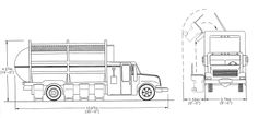 Truck 2 Garbage Collection, Recycling, Commercial, Floor Plans, Trucks, Truck, Upcycle, Floor Plan Drawing, House Floor Plans