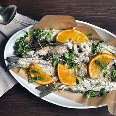 Whole Roasted Branzino With Orange & Rosemary | Turntable Kitchen # ...