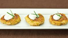 "Zucchini ""Crab"" Cakes 