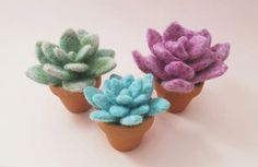 One of a kind needle felted plant in a clay pot. Made by hand with 100% wool. Choose from a variety of styles! Please note this item is MADE TO ORDER. There m
