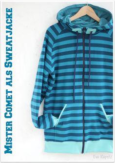 Lila-Lotta Adventskalender 2014 - Türchen Nr. 2 Tutorial: Wie mache ich aus einem Hoodie-Schnitt eine Jacke