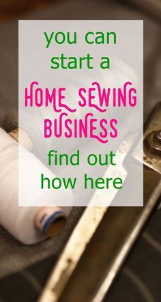 home sewing business | business for moms | mompreneuer | work at home mom