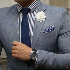 Check out the details on Gerardo E. (pocket square is by #winnerscirclefashion from our Mercer Box).