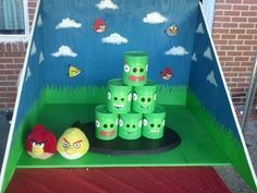 Church Festival - Angry Birds can toss - I cannot take credit for the original… School Carnival Games, Diy Carnival Games, Fall Carnival, Kids Carnival, Carnival Birthday Parties, Halloween Carnival, Diy Games, Halloween Games, Carnival Ideas