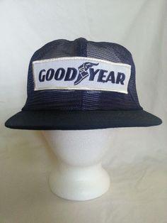 VTG EXTREMELY RARE GOODYEAR FULL MESH HAT TRUCKER SNAPBACK CAP #swingster…