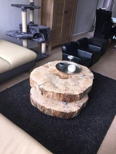 Happy customers are the best customers! Tree Table, Coffe Table, Wooden Tables, Decorating Ideas, Lounge, Creative, Happy, Nature, Diy