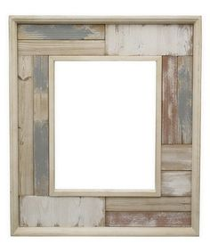 Look at this Washed-Out Wood Mirror on #zulily today!