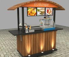 Food Stall Design, Food Cart Design, Street Food London, Food Carts For Sale, Kombi Trailer, Coffee Display, Mobile Food Cart, Sweet Carts, Food Kiosk