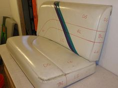 Our Boat Seats Before And After With Sem Vinyl Coat Spray
