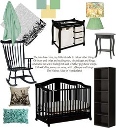 Alice In Wonderland Nursery Furniture Vision Board. Ben would love this. With big mad hatter on the wall.