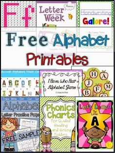 Today's freebies are all about learning those ABC's! I hope you find some useful resources for your kids! Alphabet Letters Practice Pages By: Mrs. Thompson's Treasures Mystery Pictures Capital & Lowercase Letters – F By: The McGrew Crew Alphabet A By: Tweet Music Alphabet Animal Flash Cards By: Jason's Online Classroom Handwriting Galore By: Wild …