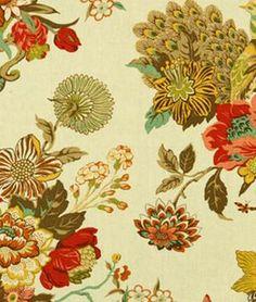 Robert Allen Elizas Garden Marigold Fabric - $46.1 | onlinefabricstore.net