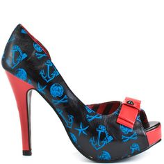 Don't Hold Your Breath Platform - Black Blue by Iron Fist  WHEN I buy another pair of Iron Fist shoes, they WILL be these ones!