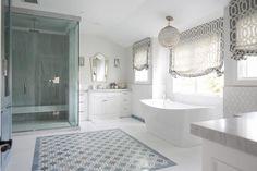 Gray mosaic inlay tiles