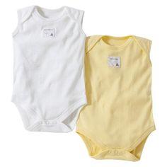 Burts Bees Baby™ Newborn Neutral 2 Pack Sleeveless Bodysuit