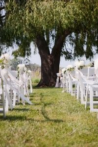 Outdoor ceremony at Spring Lake Country Club