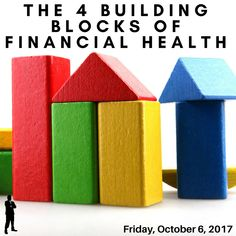 Many people come to me not knowing where to start or what a solid financial plan entails. I give you my 4 Building Blocks of Financial Health to guide you on your way! Accomplishing these will set you on the path to a bright financial future! Retirement Planning, Financial Planning, Retirement Savings, Money Matters, Budgeting, Knowledge, How To Plan, Determination, Building