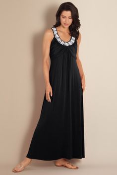 Moonlight Cruise Dress - Lined Dress, Curved Neckline, Invisible Back Zipper   Soft Surroundings