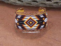 native beaded braclet   Native American Braided Copper Cuff Bracelet Beaded by LJGreywolf, $ ...