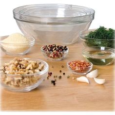 Anchor Hocking - 10-Piece Mixing Bowl Set - Clear Glass