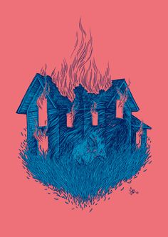 """dariagolab: """" """"and you were a house on fire and I couldn't understand why burn me all down to the ground, you said, the fire is on the inside"""" Listener - """"you were a house on fire"""" Illustration..."""