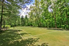 Not quite a room, but we couldn't leave out this gorgeous grass tennis court from one of our Mount Kisco properties.