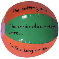 Story Ball! After reading a story just toss this around the room and whatever section the students right thumb lands on, they have to answer that question!