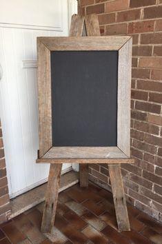 Rustic+Wooden+Easel+&+Blackboard-+Large, $80.00