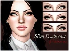 Slim Eyebrows by Pralinesims - Sims 3 Downloads CC Caboodle