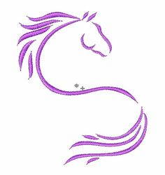 JumpRope Designs Embroidery Design: Horse Outline inches H x inches W Vintage Embroidery, Floral Embroidery, Hand Embroidery, Machine Embroidery Designs, Embroidery Patterns, Horse Outline, Horse Stencil, Horse Pattern, Horse Crafts