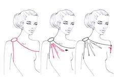 How to draw fashion collar