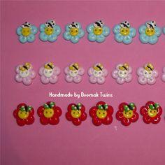 Deemak Twins: Flores & Borboletas (botões/buttons)