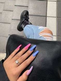 Spring Fever 40 of the Best Spring Nails for 2019 Hashtag Nailart fever Hashtag nailart Nails Spring Summer Acrylic Nails, Best Acrylic Nails, Pastel Nails, Acrylic Nail Designs, Pink Acrylics, Summer Nails, Colored Acrylic Nails, Purple Nail Art, Colorful Nail Designs