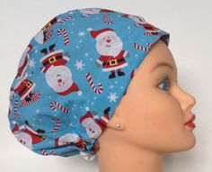 A personal favorite from my Etsy shop https://www.etsy.com/listing/177019560/womens-demi-bonnet-surgical-scrub-hat