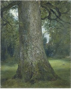 John Constable, - Study of the Trunk of an Elm Tree, ca. 1821. Constable probably painted this remarkable sketch in Hampstead. It is so realistic that it has an almost photographic quality.
