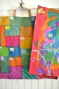 Diy paper bag paintings – kids fall craft – mixed media art for kids Diy Paper Bag, Paper Bag Crafts, Paper Bags, Fall Crafts For Kids, Art For Kids, Kids Crafts, Diy And Crafts Sewing, Preschool Art, Art Portfolio
