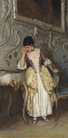 A Moment of Sadness, Eugene de Blaas (1843—1932)