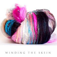 Spinning fiber art batt Wool Batt felting batt by windingtheskein, $26.90