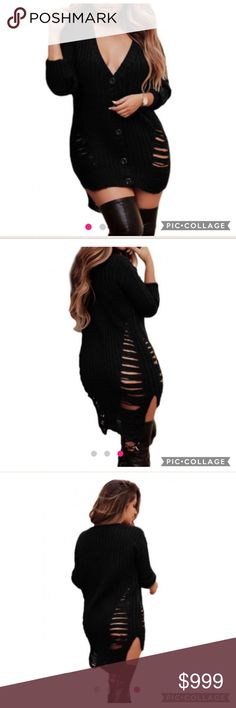 ✨JUST IN✨ Sexy black button up sweater BRAND NEW Sexy black button up sweater with side cut outs. ♥ UNIQUE piece! ♥ Sweaters