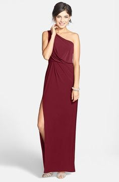 Hailey by Adrianna Papell One-Shoulder Jersey Gown...Simple gown that presents you to the room, so pretty!