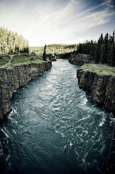 Miles Canyon . Yukon River . Canada - day trip near Whitehorse