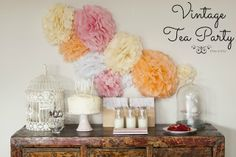 Tea Party Table Decorations | ... , vintage style afternoon tea and absolutely love how it turned out