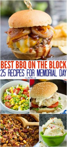 25+ Best BBQ on the Block Memorial Day Recipe and Menu Ideas for the holiday and all summer long!