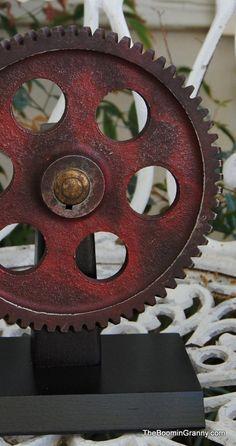 Industrial Chic Gear Cog Wheel .