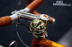 This Bishop Bikes randonneur bike featured a beautiful brass bell mounted to the stem.