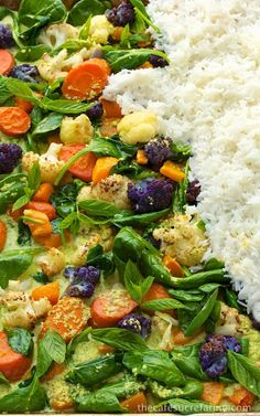Roasted Veggie Coconut Curry - thecafesucrefarine.com