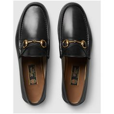 79db9cc6d1558 Gucci 1953 Horsebit Leather Loafer (11,355 MXN) ❤ liked on Polyvore  featuring men s fashion