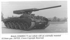 "the-other-lexington: ""British COMRES 75 test bed vehicle, built in 1968 to explore the possibilities of externally mounted guns. (Source) """