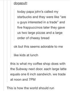 I used to work at a pizza place and there was a shake shop down the road and we did this literally like every week, it was the best. Funny Quotes, Funny Memes, Hilarious, Haha, Ft Tumblr, Funny Tumblr Posts, Faith In Humanity, Humor, Just For Laughs