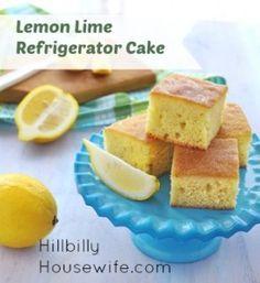 Jello Lemon Lime Refrigerator Cake